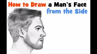 How to Draw a face for beginners step by step from side male / man easy step by step
