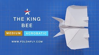 Fold 'N Fly ✈ The King Bee Paper Airplane