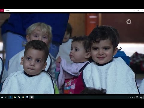 Muslim children in Catholic orphanage in Bethlehem, West Bank/ Palestine. With English subtitles