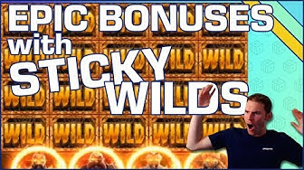 Sticky Wild Bonuses with HUGE potential