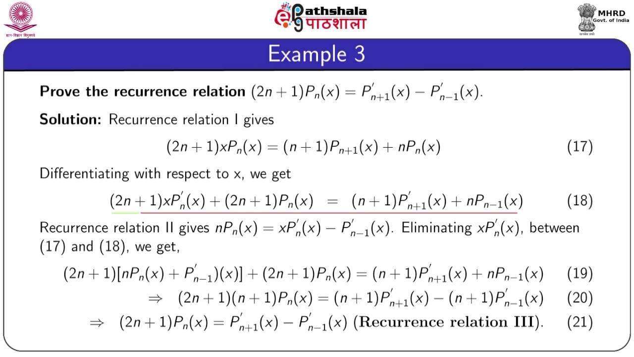 Recurrence Relations Math Youtube
