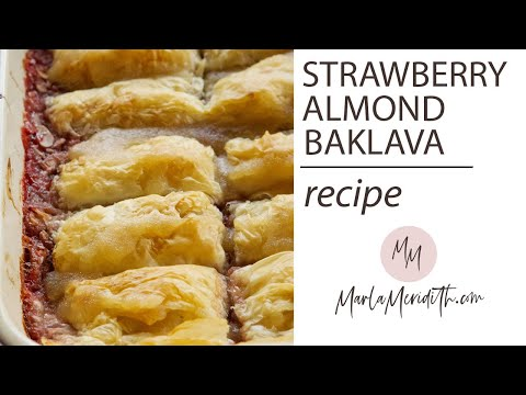 Strawberry Almond Baklava Recipe