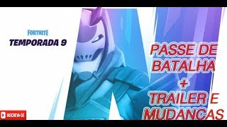FORTNITE-BATTLE PASS TEMPORADA 9! Y CAMBIOS EN EL MAPA