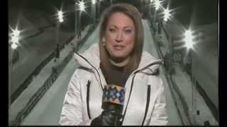 Ginger Zee snow boarding bunny + oops