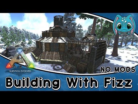 ARK:Survival Evolved Building w/ Fizz :: Dwarven Mining Outpost (No Mods)!!