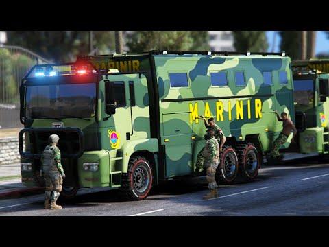 Konvoi MARINIR - Truk TNI 6x6 Gta 5