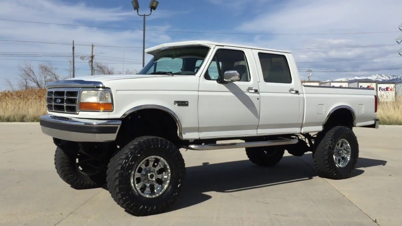 Com 10 inch lift 1997 ford f250 crew shortbed 4x4 460 7 5l v8 gas for sale youtube