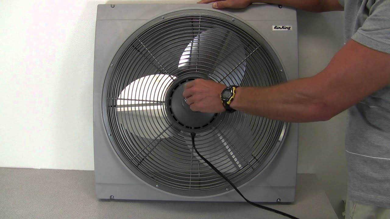 Air King Model 9166 Whole House Window Fan Youtube