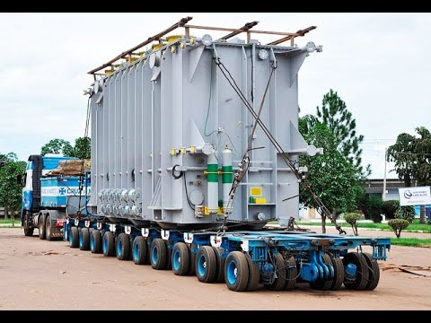 chegada de transformador na UHE Belo monte, edições de imagens ...