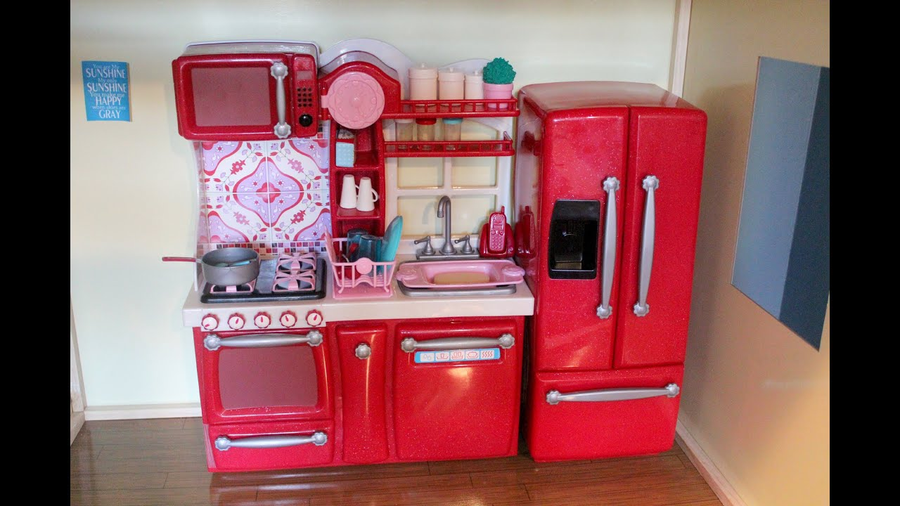 Opening/Review of Our Generation Kitchen Set for American Girl Dolls  #B71429 3000 2000