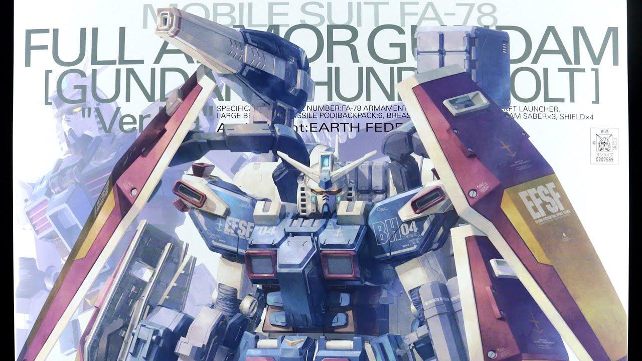 735 Mg Full Armor Gundam Thunderbolt Verka Unboxing Rx78 2 114215 Youtube