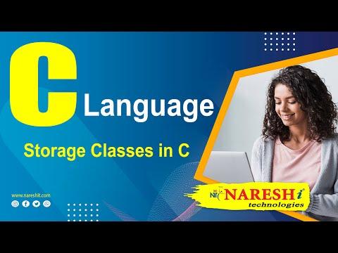 Storage Classes in C | C Language Tutorial