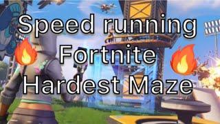 Speed running fortnite a hardest maze Escape the dream (code in bio)
