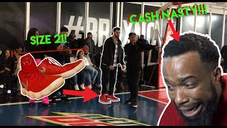 NBA All-Star Weekend CashNasty Clowning my Big shoes!