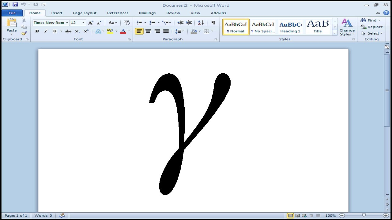 How To Type Gamma In Microsoft Word Youtube