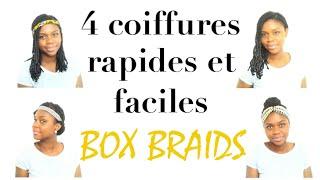 4 coiffures avec des tresses box braids faciles et rapides ebeni diary