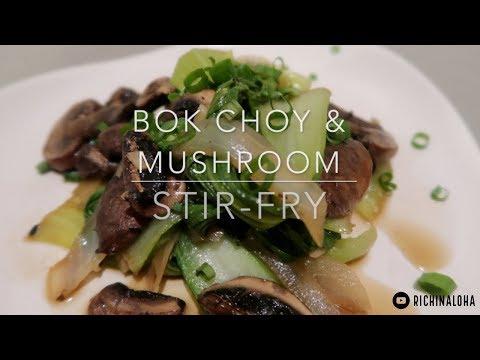 Vegan Bok Choy Mushroom Stir Fry