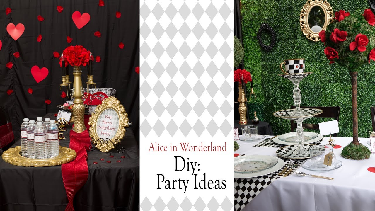 Alice In Wonderland Diy Party Ideas Party Decor Youtube