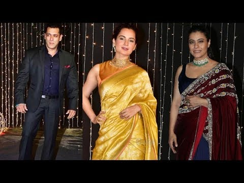 Priyanka's besties Salman Khan, Kangana Ranaut and other bollywood celebs arrive at Reception