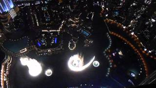 Dubai Fountain Show - view from