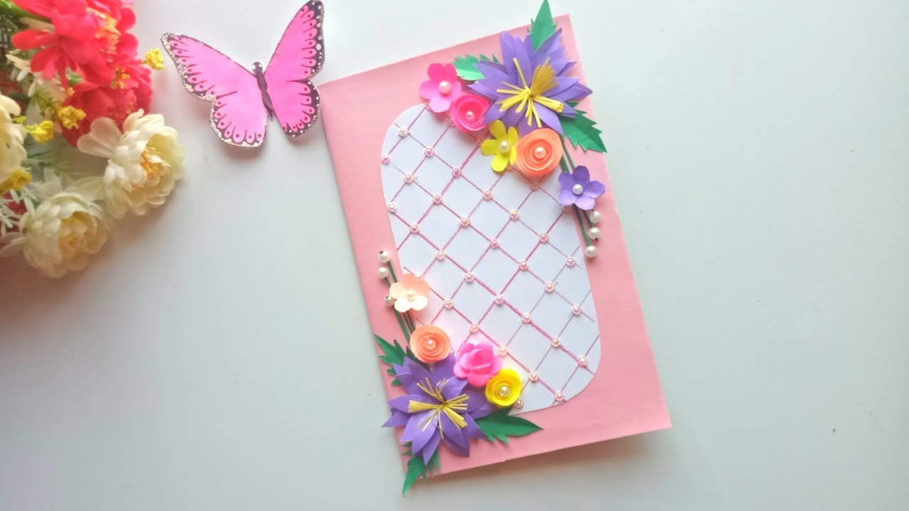 Beautiful Handmade Birthday card idea / DIY Greeting Pop