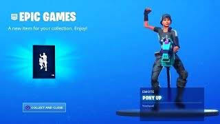 Claim the FREE EMOTE in Fortnite NOW! (PONY UP EMOTE)