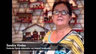 Mercado de Artesanías: Sandra Vindas y sus productos típicos