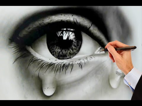 How to draw human eyes realistic eye
