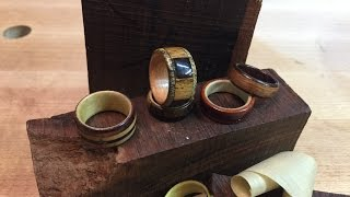 Make Awesome Wood Rings on the Drill Press