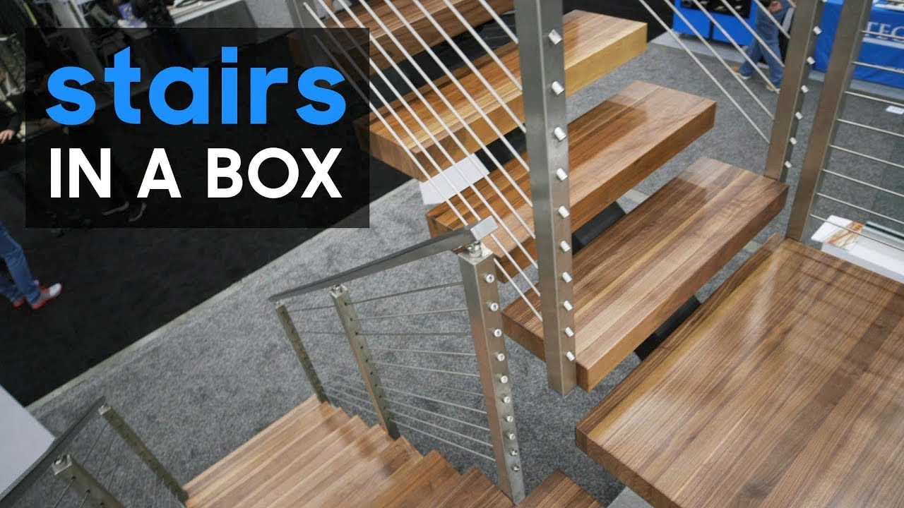 U201cStairs In A Boxu201d Shipped Straight To You + 5 New Products From Remodeling  And Deck Expo   Part 1