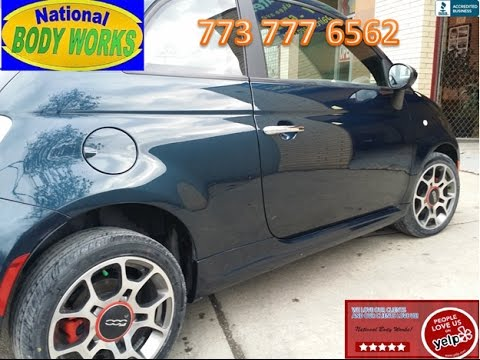 Before and After 2014 Fiat 500- BODY REPAIR