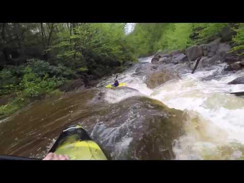 Kayaking Red Creek in West Virginia