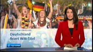 Tagesschau zum Weltmeister Deutschland 2014 am 14.07.2014