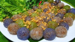 กับข้าวกับปลาโอ 569 : สาคูใส้หมูสามสี แป้งเหนียวนุ่ม นุ่มนาน Steamed tapioca ball with  pork filling