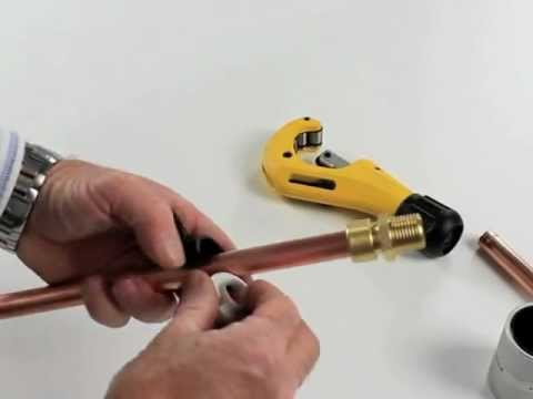 raccords cuivre sans soudure push-fit - youtube
