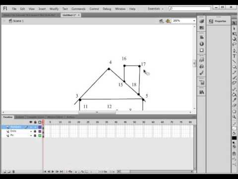 Flash CS6 Tutorial 39 Connect The Dots