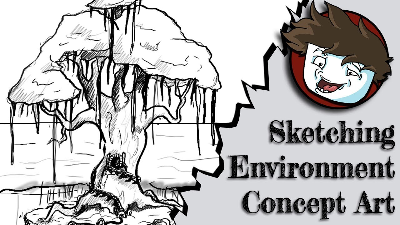 How To Create Environment Concept Art Part 1 Sketching
