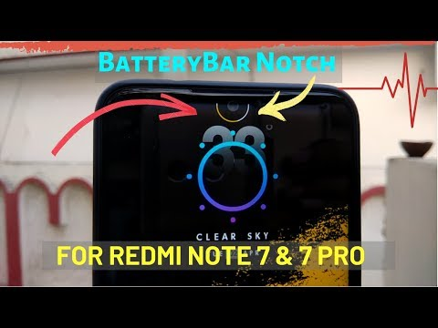 Get BatteryBar On Notch Of Redmi Note 7 And 7 Pro.