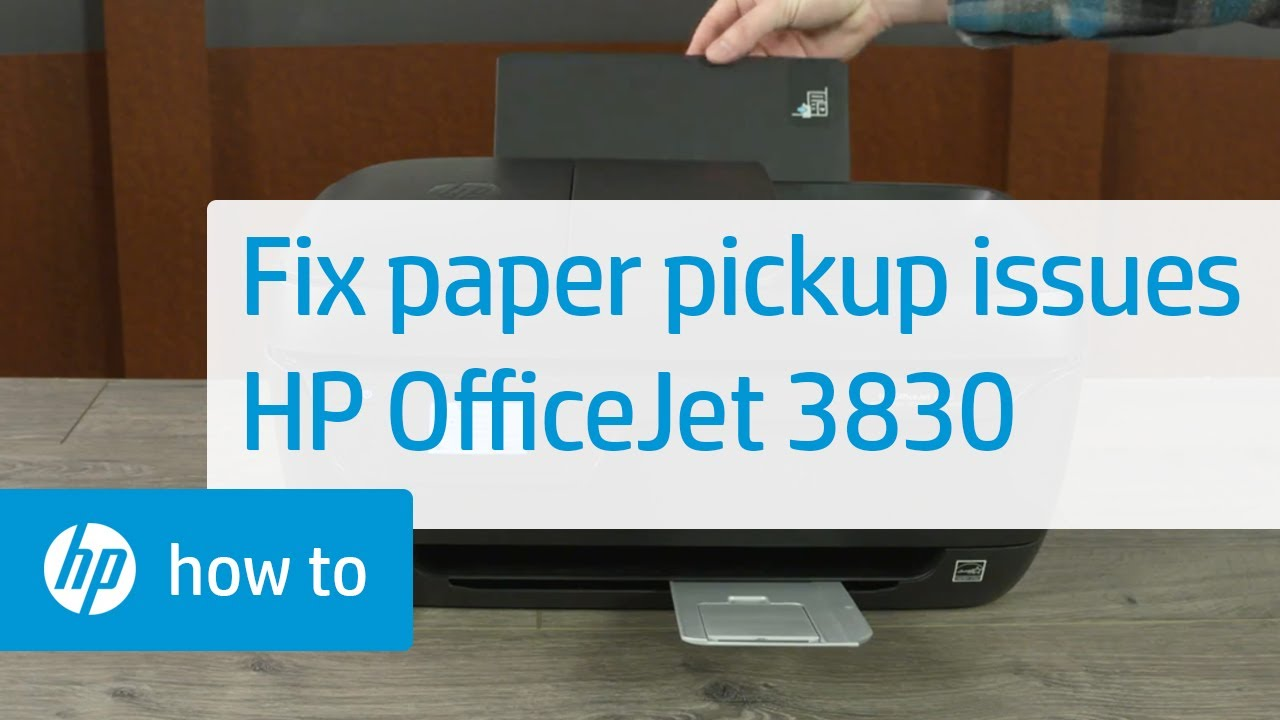 How to Fix an HP OfficeJet 3830 Printer When It Does Not Pick Up Paper | HP  OfficeJet | HP