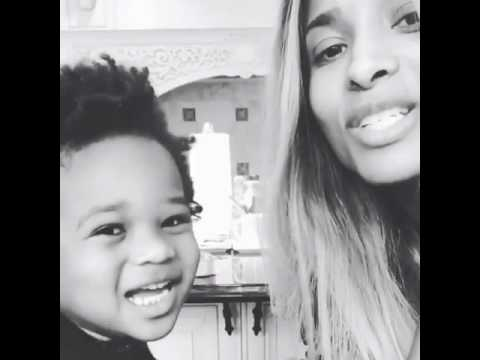 Ciara singing with her son #NeW (2016)