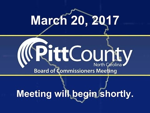 Pitt County Commissioners meeting for 3/20/2017