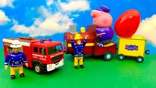 Fireman Sam and Peppa Pig  फ़ायरमैन सैम, पेप्पा सुअर, आश्चर्य अंडा