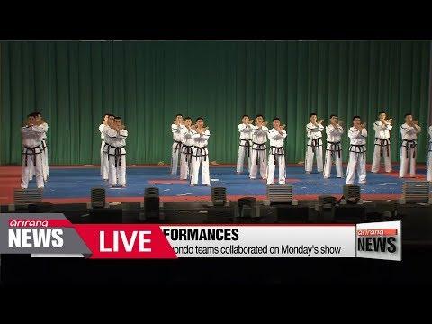 [LIVE/ARIRANG NEWS] Joint taekwondo stage by South Korean and North Korean demonstrators