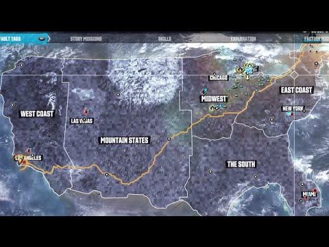 The Crew Beta COAST TO COAST Map Size Test (East Coast crown of ...