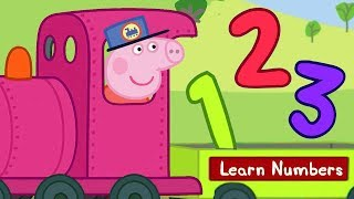 Peppa Pig - Learn Numbers With Trains - Peppa Pig the Train Driver! - Learning with Peppa Pig