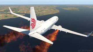 big-planes-emergency-landing-into-water,-all-engines-in-fire-x-plane-11