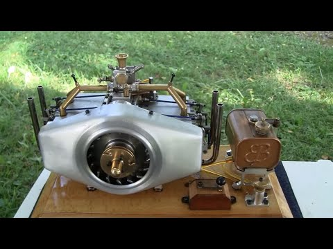 INCREDIBLE HOMEMADE OPPOSED BOXER ENGINE (from scratch)
