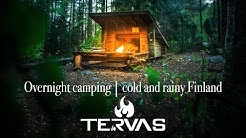 Tervas Outdoor - Overnight camping in cold and rainy Finland