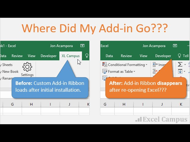 Prevent Microsoft Office Add-ins From Disappearing From The