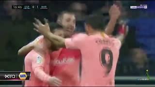 RCD Espanyol vs FC Barcelona (0-4). Resumen y todos los goles (8-12-18)